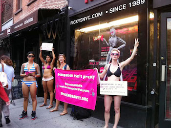 Code Pink protest Ahava products 2011_2.jpg